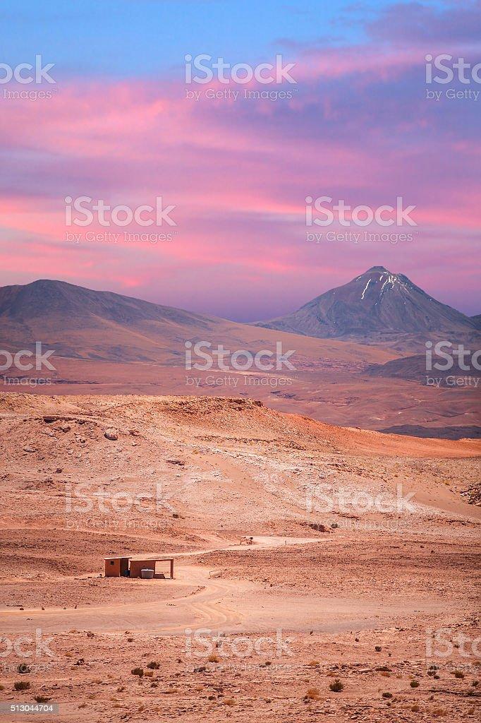 volcano licancabur near San Pedro de Atacama stock photo