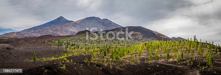istock Volcano Mount El Teide, Pico Viejo and Montaña de la Botija, viewed from Montaña Samara, El Teide National Park, Tenerife, Canary Islands, Spain 1094217472