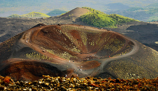 Volcano mount Etna Dormant crater of Etna catania stock pictures, royalty-free photos & images