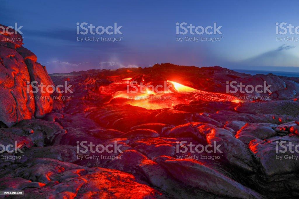 Volcano National Park Hawaii stock photo