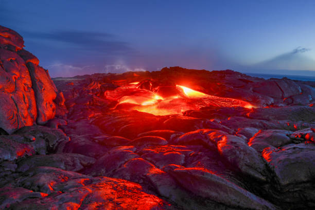 Volcano National Park Hawaii Volcano, Natural Phenomenon, Rock - Object, Tropical Climate, Big Island - Hawaii Islands lava stock pictures, royalty-free photos & images