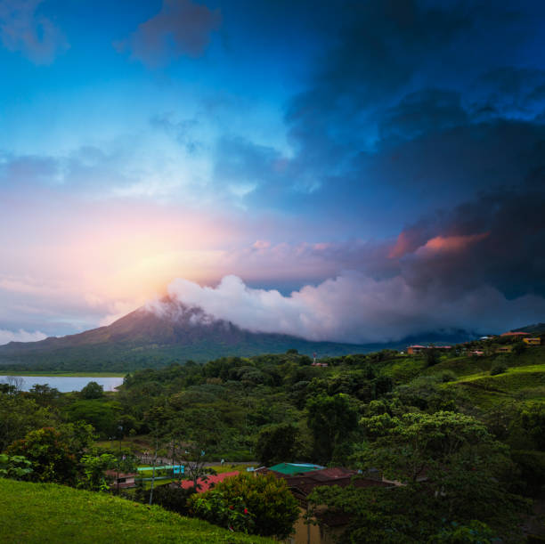 Volcano of Arenal stock photo