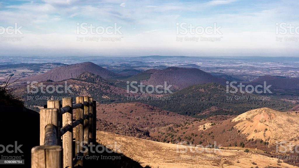 Volcan d'Auvergne stock photo