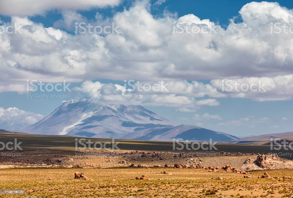 Volcano Ollague And Andes Mountains Range Altiplano Bolivia South America Stock Photo Download Image Now Istock