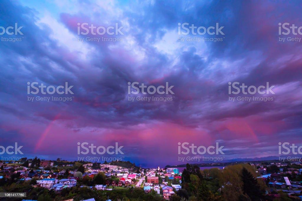 Volcano Osorno in Dusk stock photo
