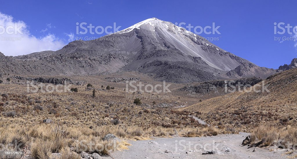 Volcano Pico de Orizaba stock photo