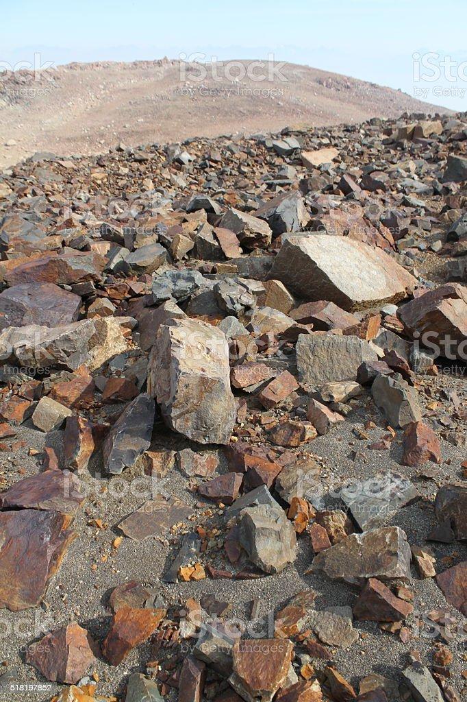 Volcano Rocks Patagonia stock photo