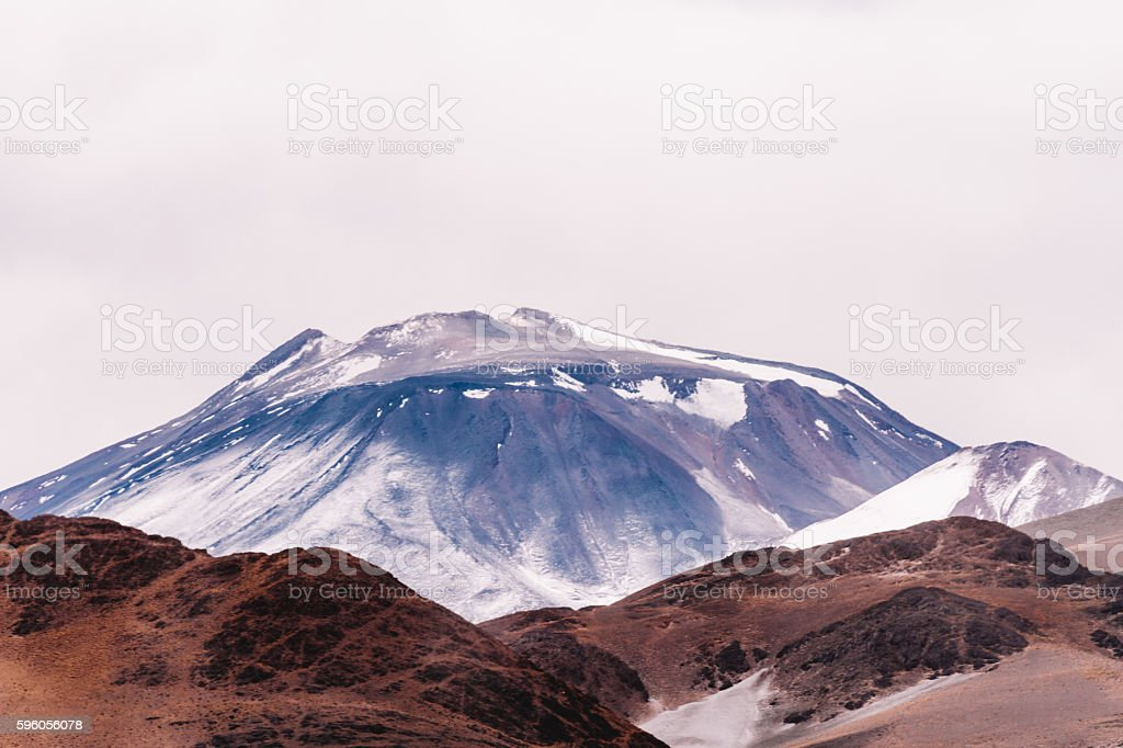 Volcano San Francisco with mountains ahead in the Andes royalty-free stock photo