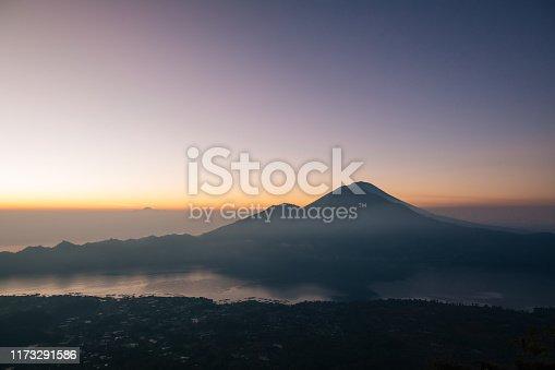 Volcano scenery in the morning, Mount Batur, Bali, Indonesia