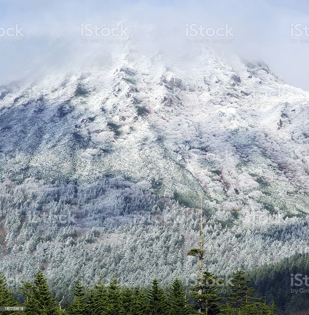 Volcano snow royalty-free stock photo
