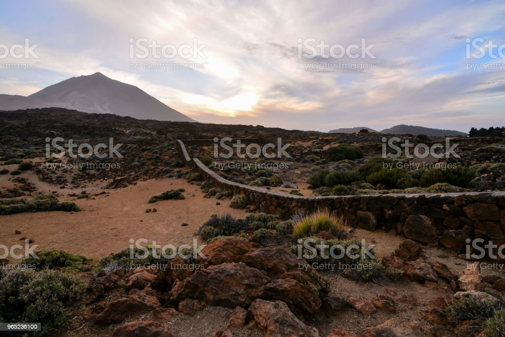 Volcano Teide National Park Tenerife zbiór zdjęć royalty-free