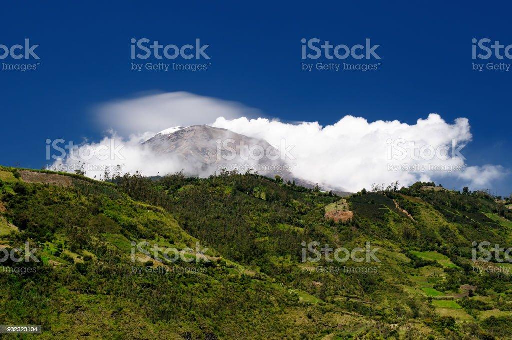 Volcano Tungurahua stock photo