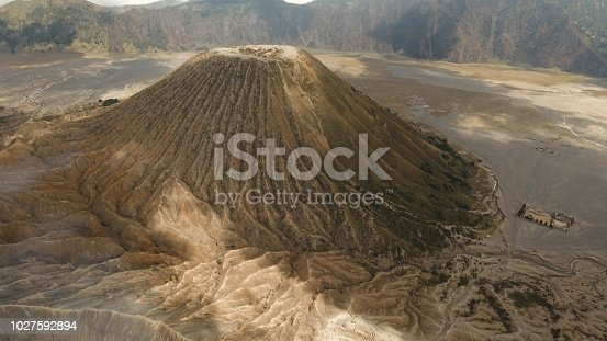 istock Volcano with a crater. Jawa, Indonesia 1027592894