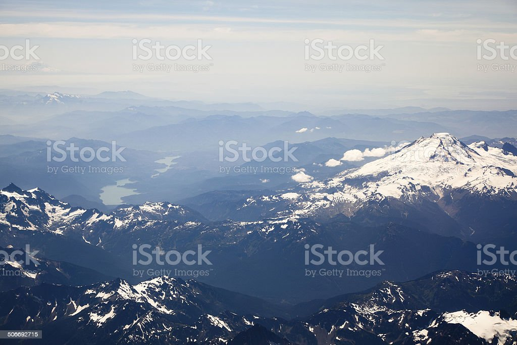 Volcanoes in the North Cascade Mountains royalty-free stock photo