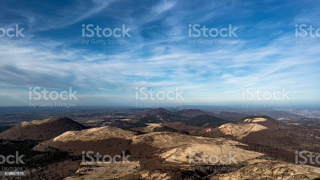 Volcans d'Auvergne stock photo