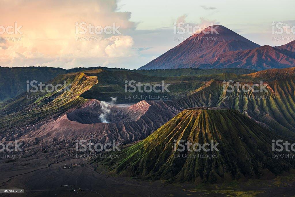Volcanoes of Indonesia stock photo