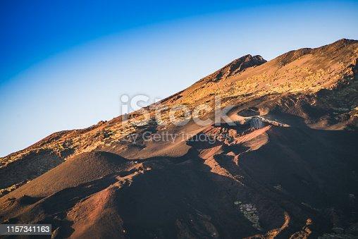 istock Volcano's Pico Viejo lava eruption place 1157341163