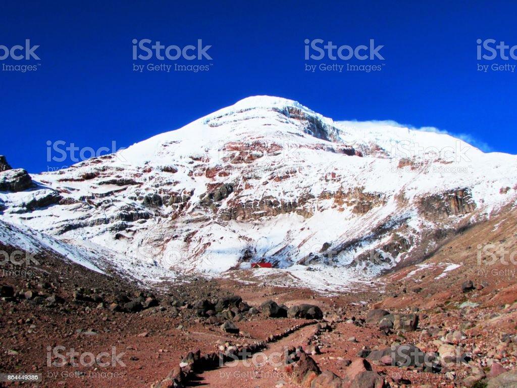 Volcán el Chimborazo stock photo