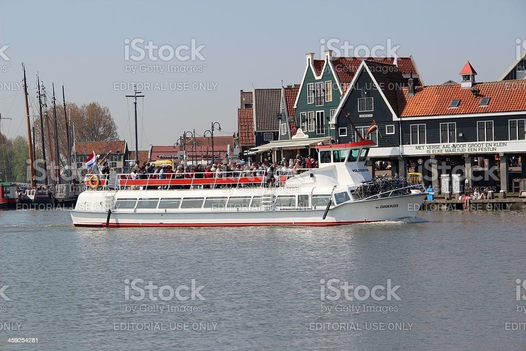 Volendam harbor royalty-free stock photo