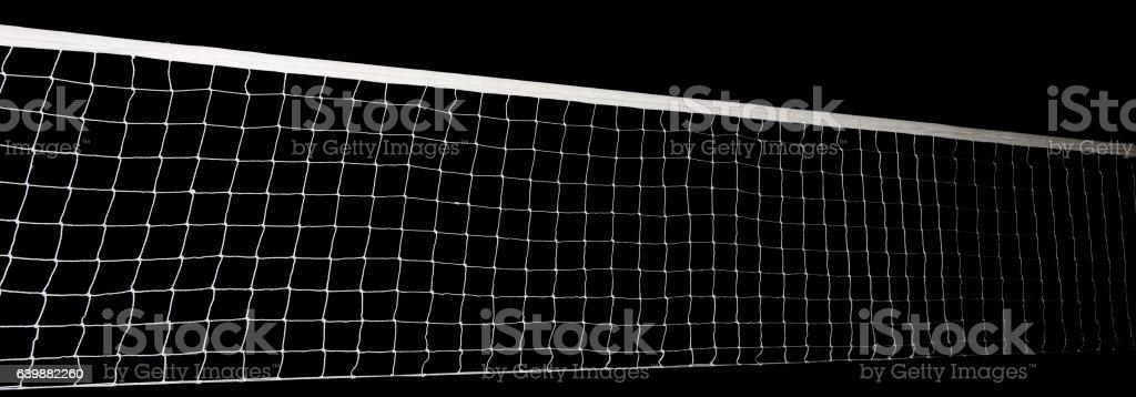 Voleyball net isolated stock photo