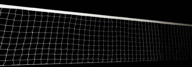 Voleyball net isolated – Foto