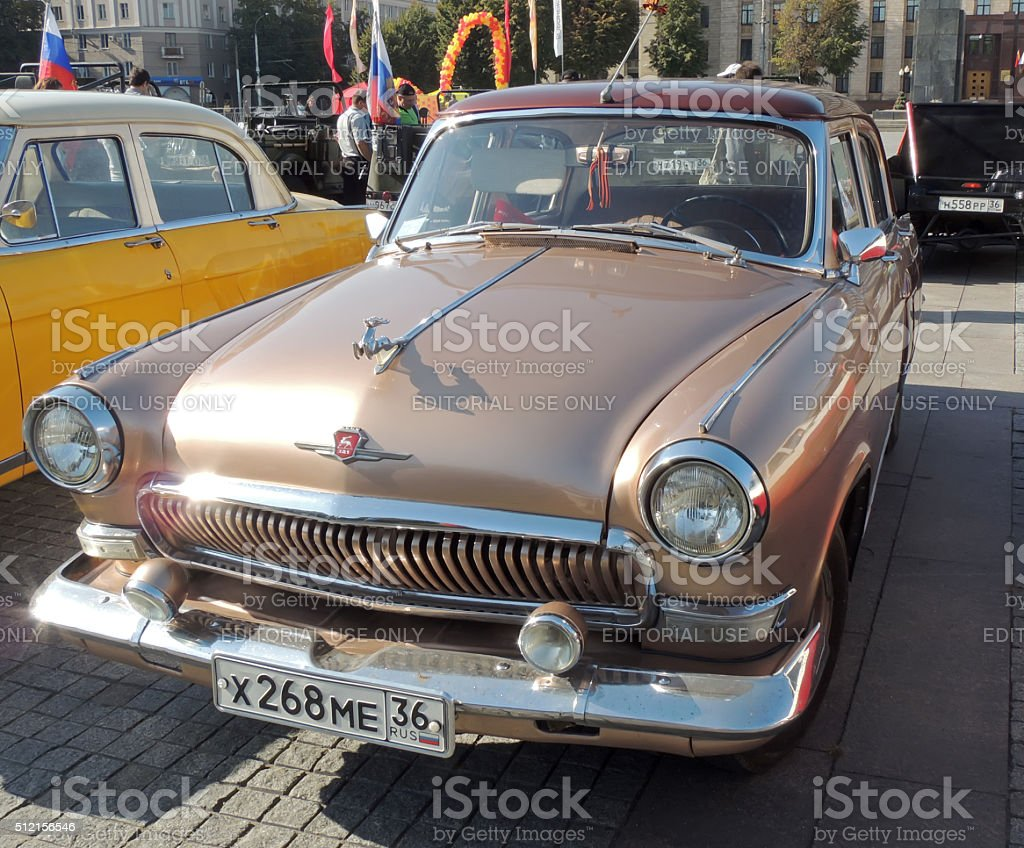 GAZ M21 Volga of the Series Three brown color stock photo