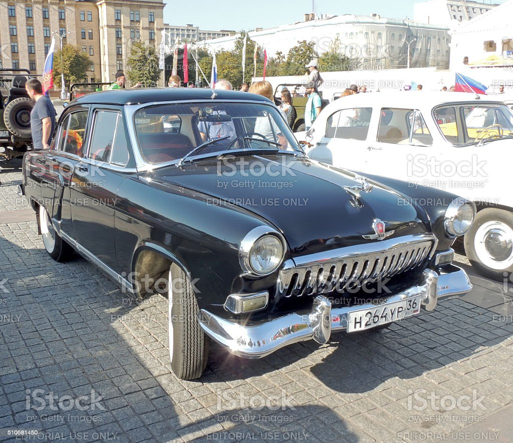 GAZ M21 Volga of the Series Two black color stock photo