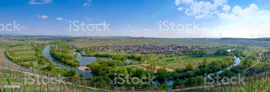 Volkach Main River Loop stock photo