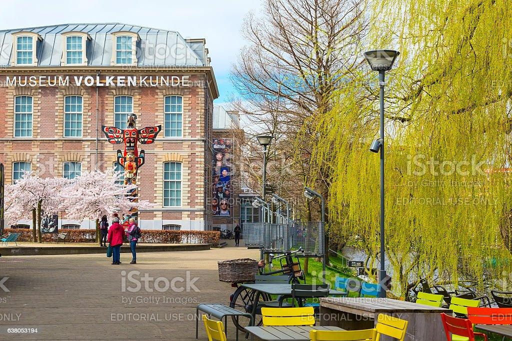 Volkenkunde museum in Leiden, Netherlands stock photo