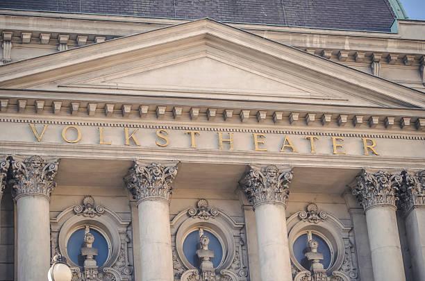 volkstheater wien - kunsthistorisches museum wien stock-fotos und bilder