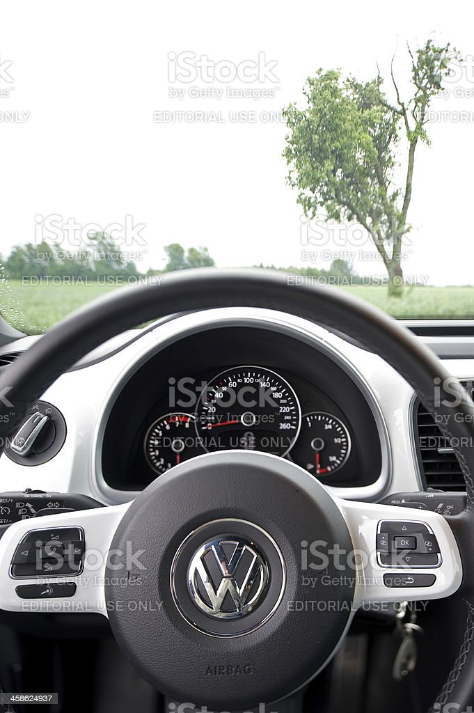 Volkswagen Beetle Detail Shot Of The Dashboard Stock Photo More