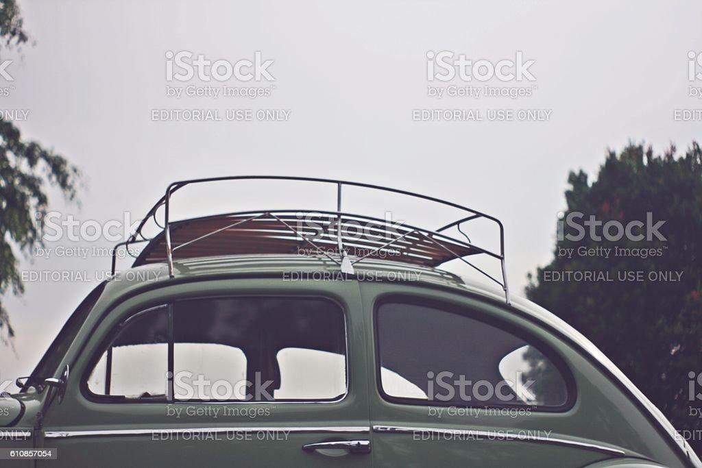 Volkswagen beetle side view stock photo