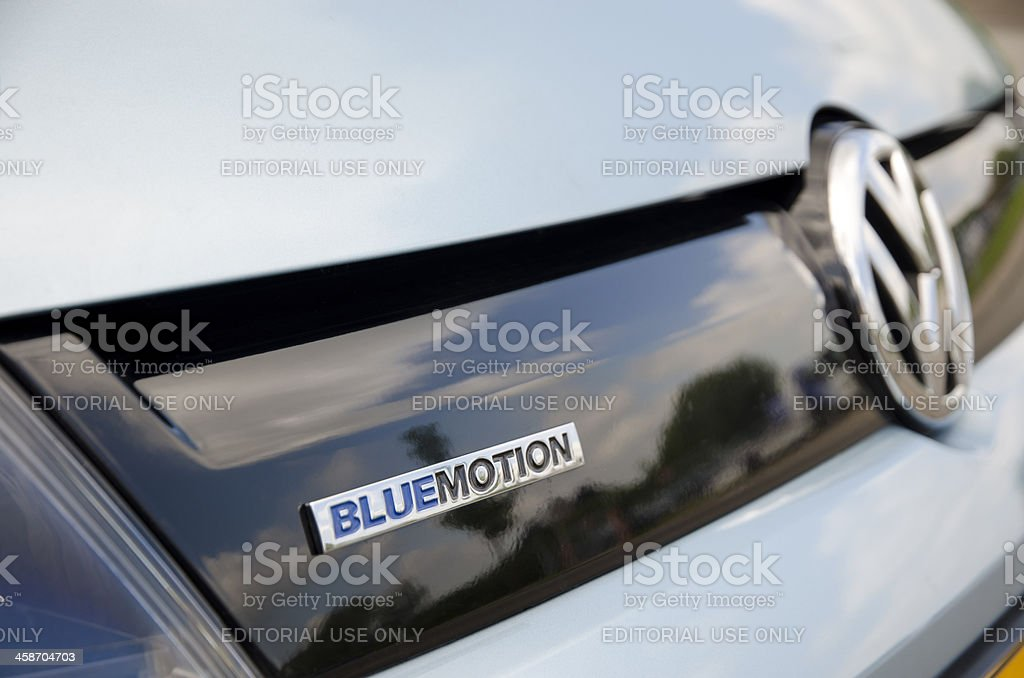 Volkswagen Bluemotion technology royalty-free stock photo