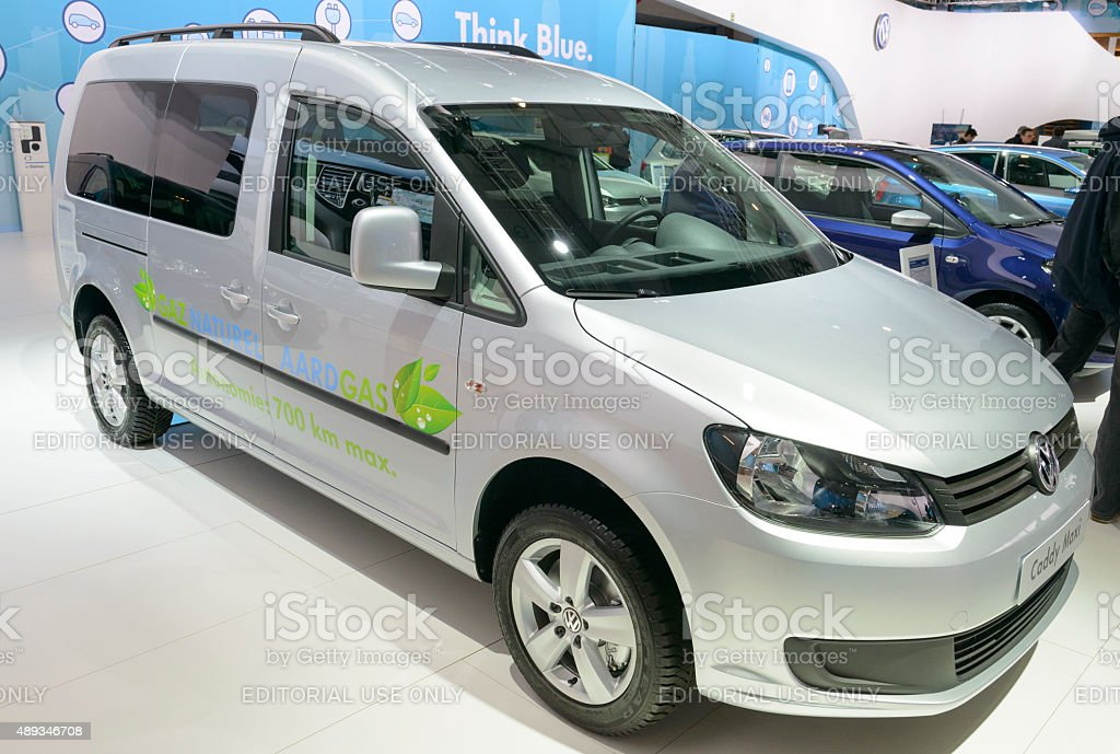 Volkswagen Caddy Combi Ecofuel Cng Mpv Car Stock Photo - Download