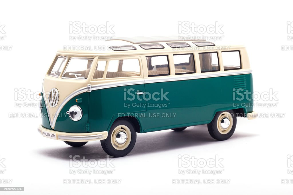 Volkswagen Camper Isolated On White stock photo