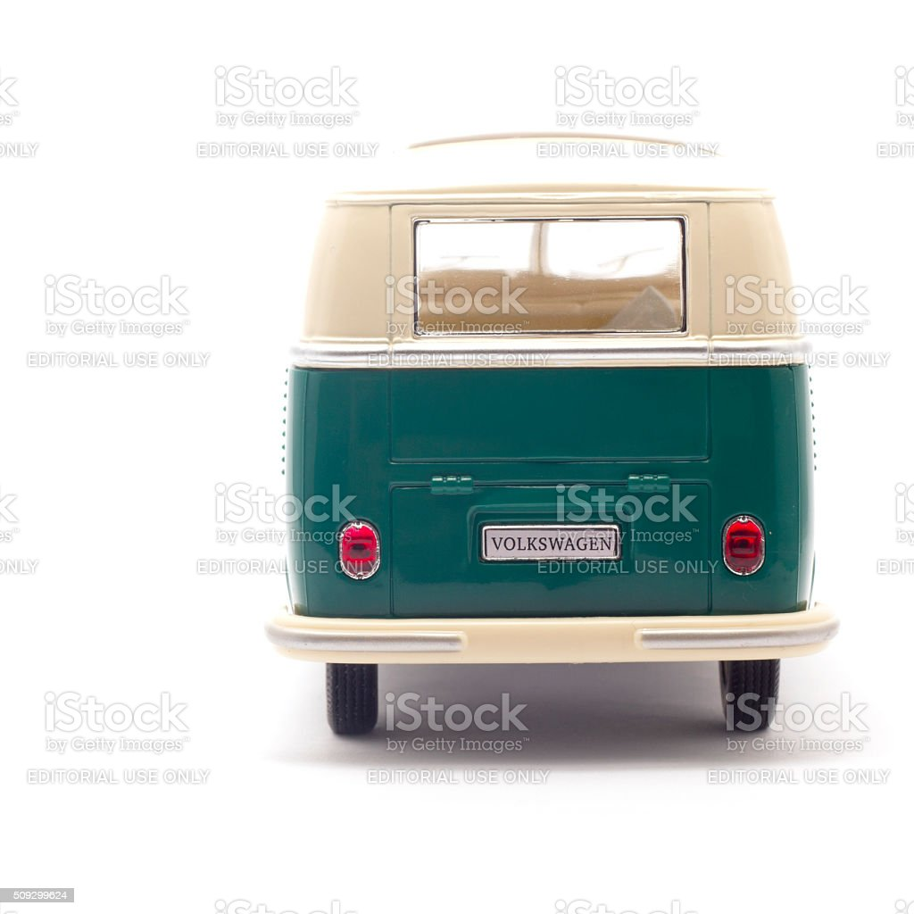 Volkswagen Camper Isolated On White Rear View stock photo