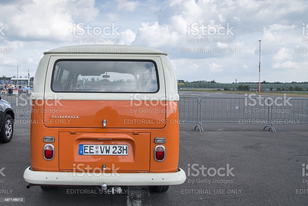 Vw Bus 2015 >> Volkswagen Camper Van Surfbus Bully Oldtimer Rear View Stock
