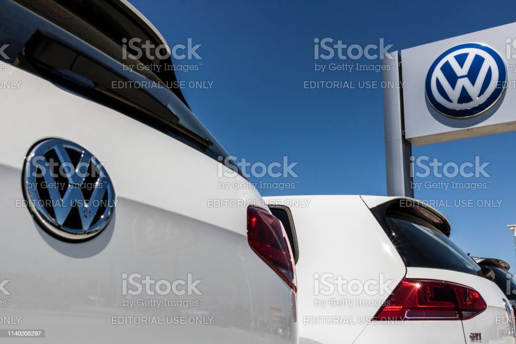 Volkswagen Cars and SUV Dealership. VW is Among the World's Largest Car Manufacturers XIII Lafayette - Circa June 2017: Volkswagen Cars and SUV Dealership. VW is Among the World's Largest Car Manufacturers XIII Car Stock Photo