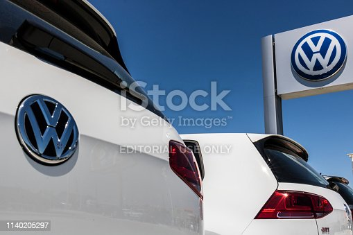 istock Volkswagen Cars and SUV Dealership. VW is Among the World's Largest Car Manufacturers XIII 1140205297