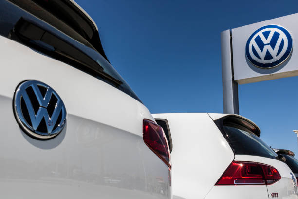 Volkswagen Cars and SUV Dealership. VW is Among the World's Largest Car Manufacturers XIII stock photo