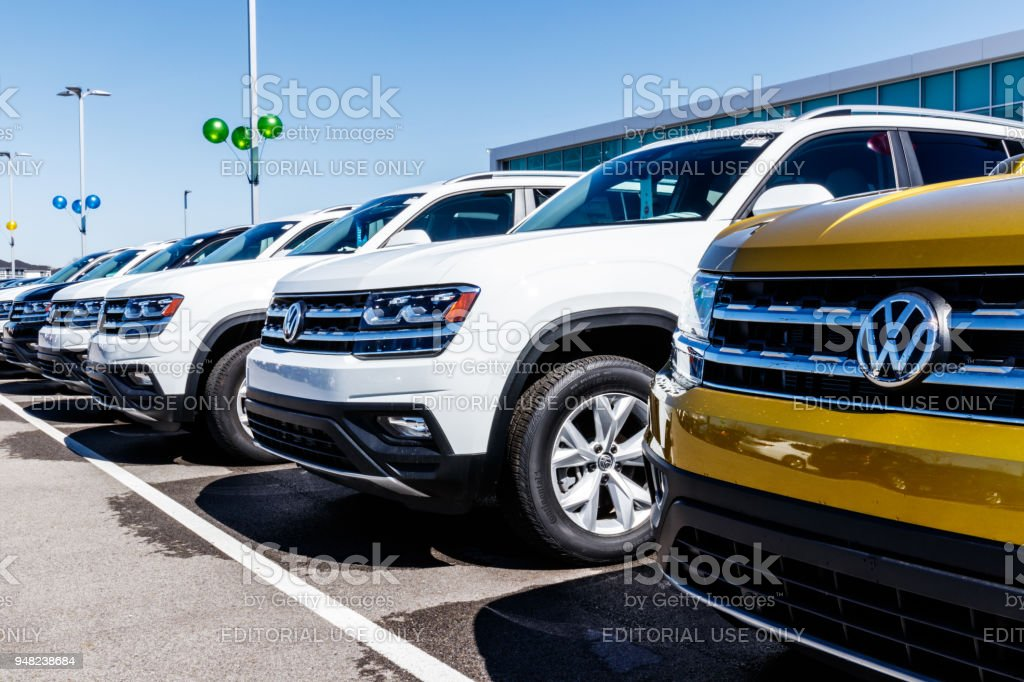 Volkswagen Cars and SUV Dealership. VW is Among the World's Largest Car Manufacturers V stock photo