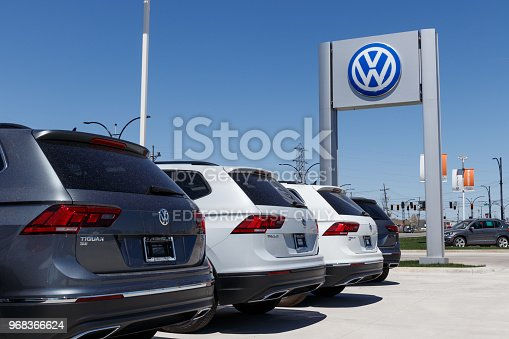 Lafayette - Circa April 2018:  Volkswagen Cars and SUV Dealership. VW is Among the World's Largest Car Manufacturers VII