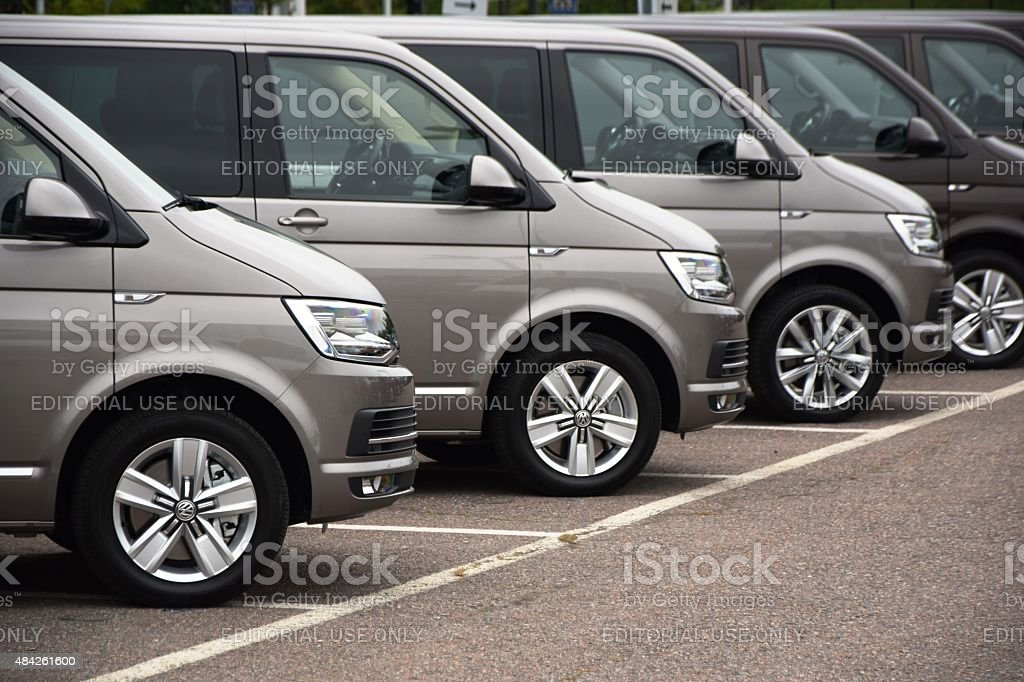 Volkswagen cars in a row stock photo