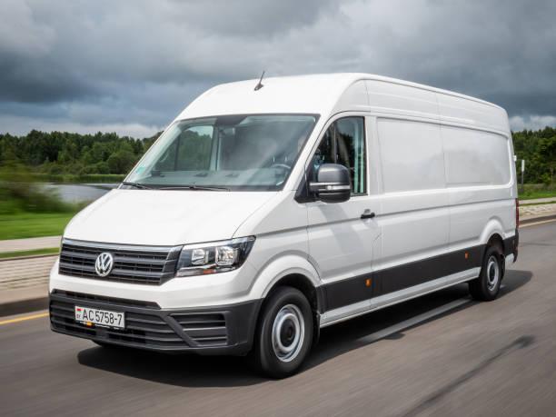 Volkswagen Crafter delivery courier van stock photo