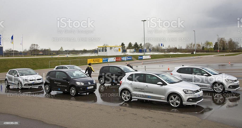 Volkswagen driving experience stock photo