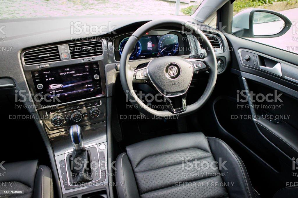 Volkswagen e-Golf 2017 Interior stock photo