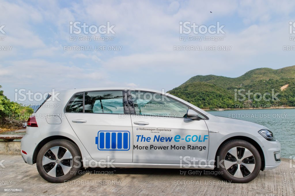 Volkswagen e-Golf 2017 Test Drive Day stock photo
