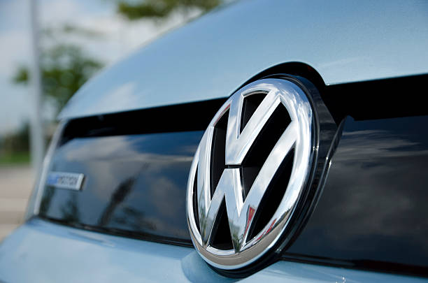 Volkswagen emblem stock photo