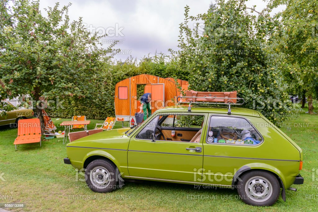 Suitcase Germany 1970 1979 Camper Trailer Camping Volkswagen Golf Mark I Hatchback Car