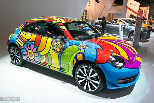 istock Volkswagen New Beetle Love Bug Parade art car 505642578